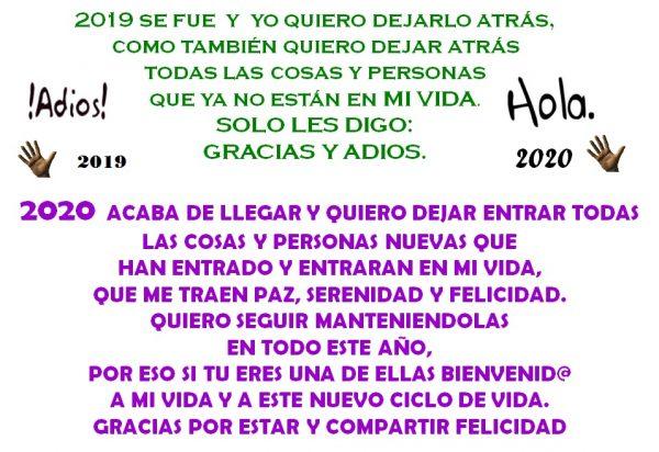 ADIOS 2019 HOLA 2020