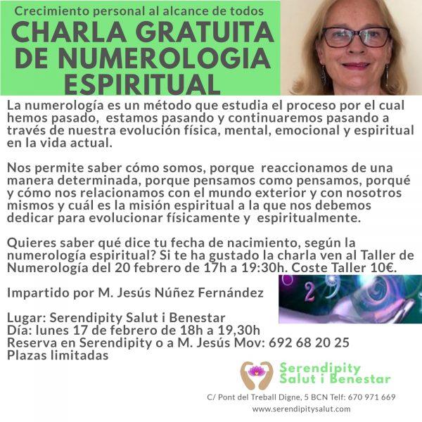 PRÓXIMO CHARLA Y TALLER NUMEROLOGIA ESPIRITUAL