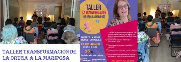 TALLER TRANSFORMACIÓN DE ORUGA A MARIPOSA