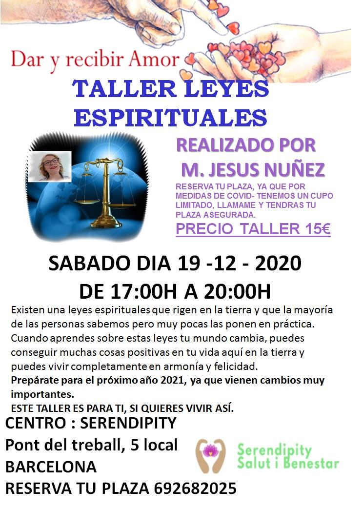 TALLER — LEYES ESPIRITUALES QUE RIGEN EN LA TIERRA