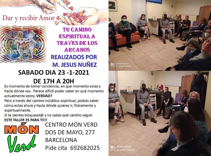 TALLER  DEL SÁBADO «TU CAMINO ESPIRITUAL A TRAVÉS DE LOS ARCANOS»